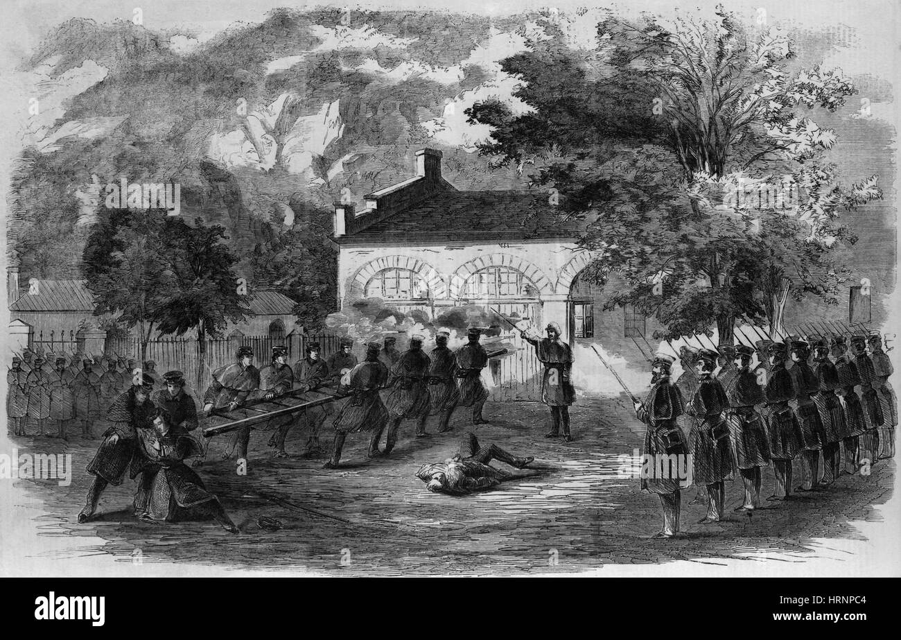 Harpers Ferry Insurrection, 1859 - Stock Image
