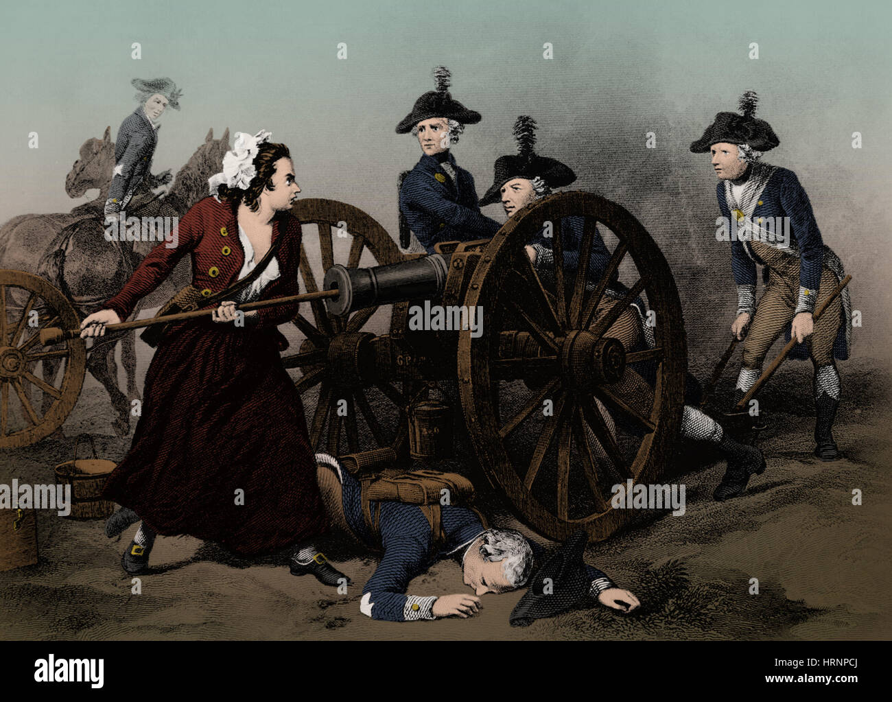 Molly Pitcher at the Battle of Monmouth, 1778