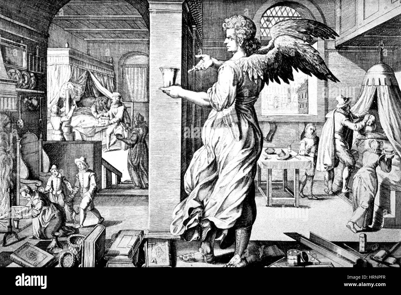 Physician As Angel, 17th Century - Stock Image