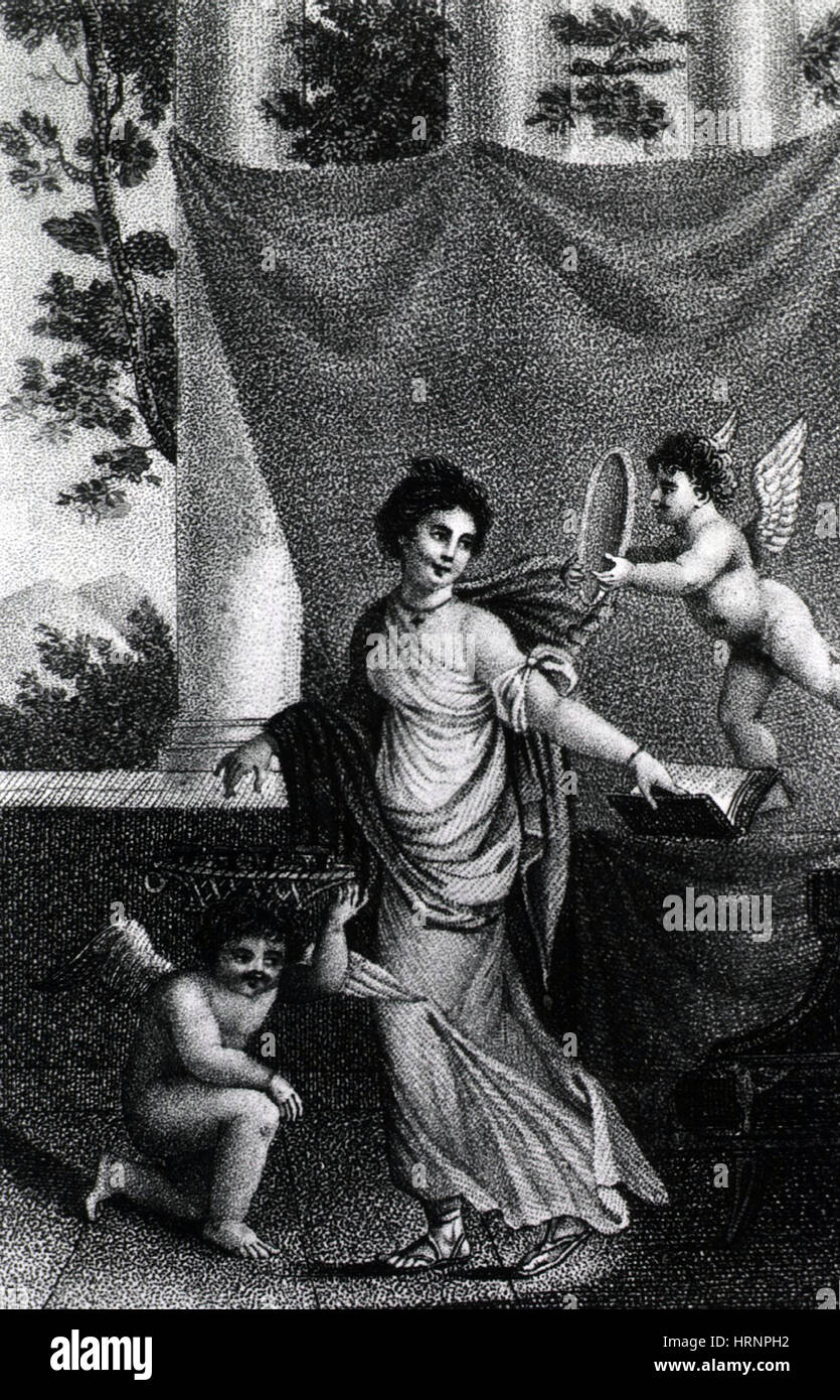 Allegorical Depiction of Beauty, 19th Century - Stock Image