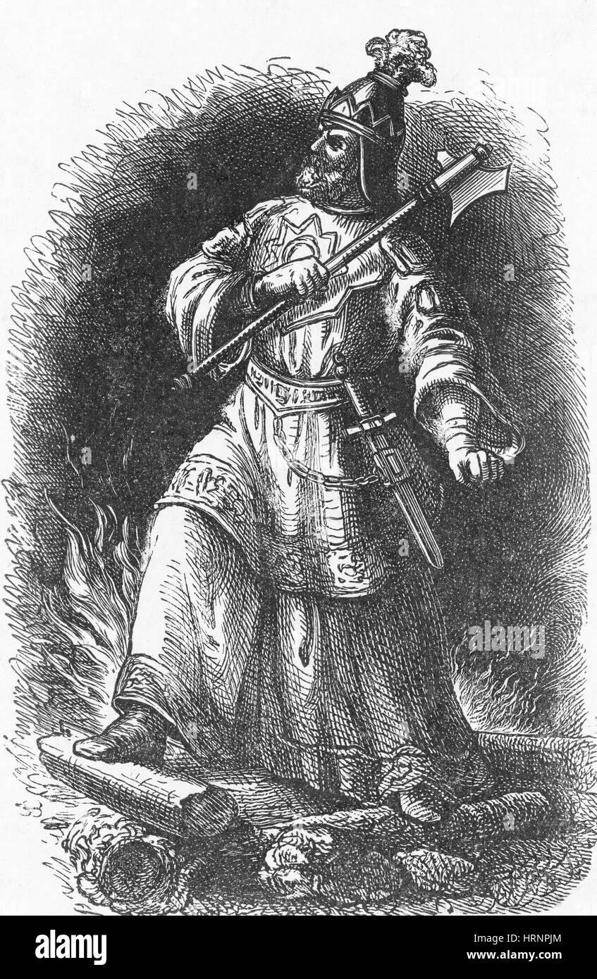 Attila, Emperor of the Huns - Stock Image