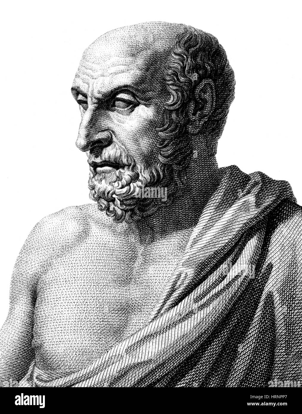 Democritus, Ancient Greek Polymath - Stock Image