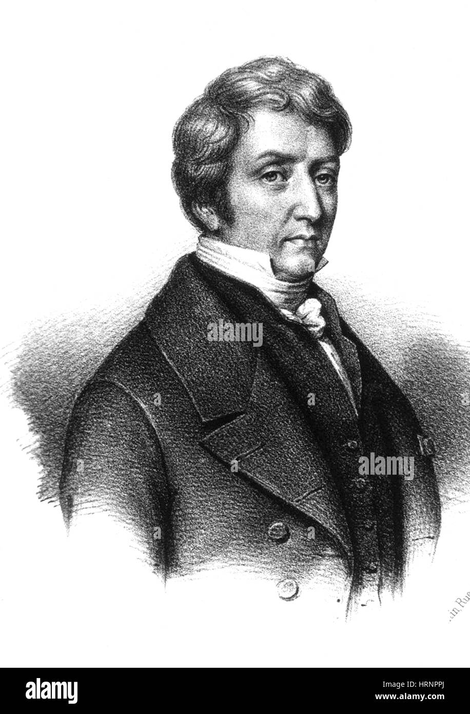 Pierre Louis Dulong, French Physicist and Chemist - Stock Image