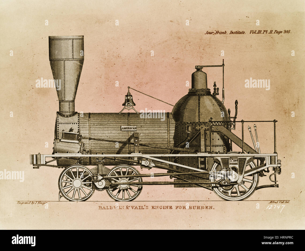 Baldwin Steam Locomotive, 1841