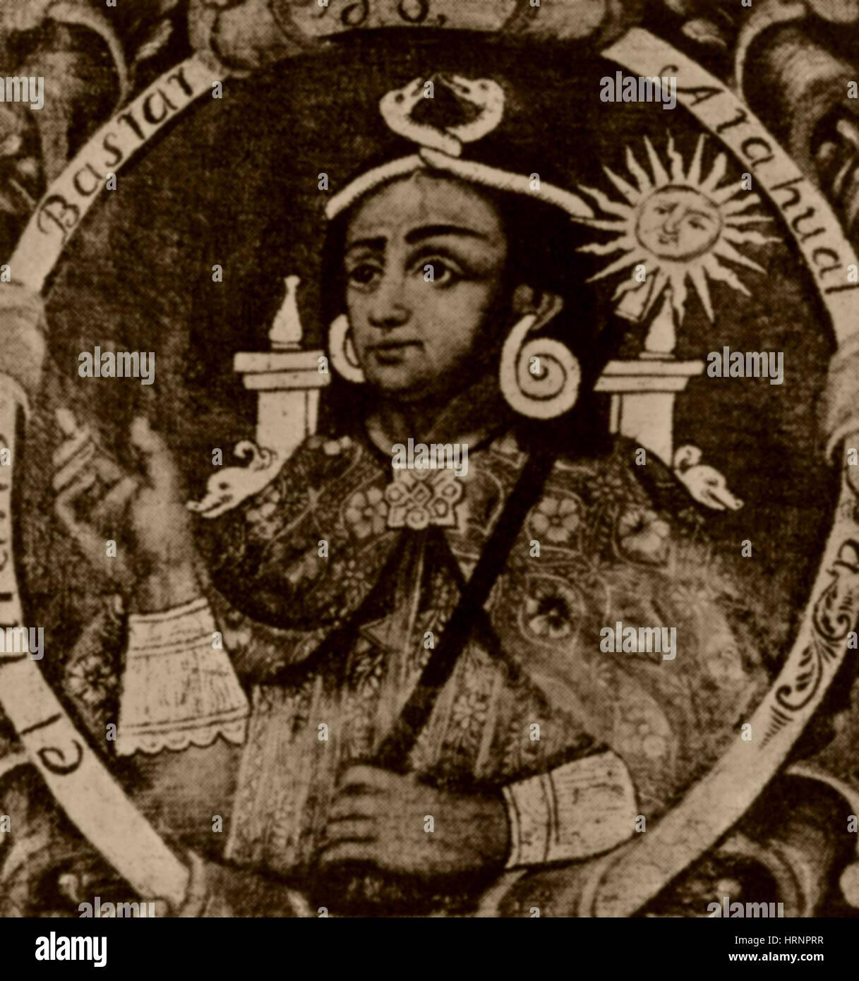 Atahualpa, Last Emperor of the Incan Empire - Stock Image