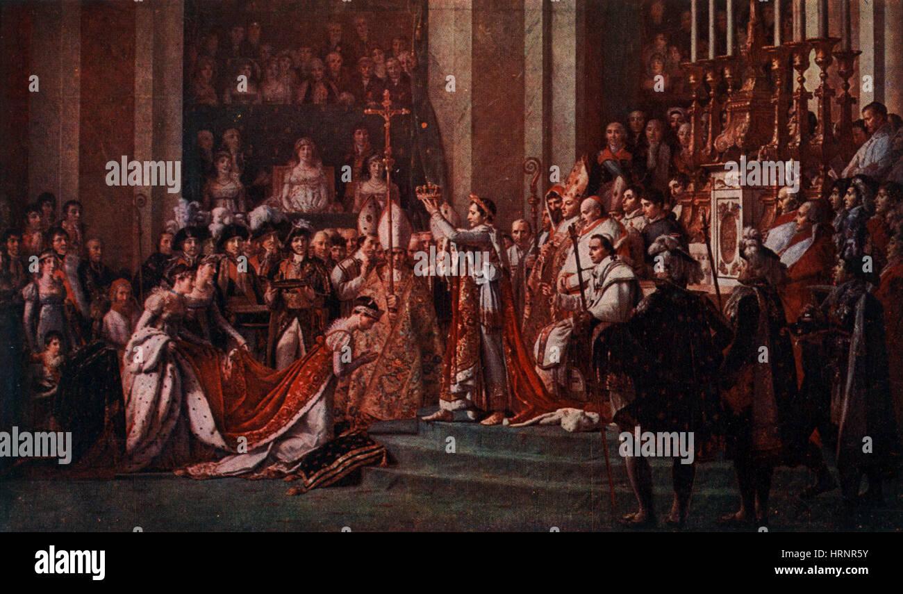 Coronation of Napoleon, 1804 - Stock Image