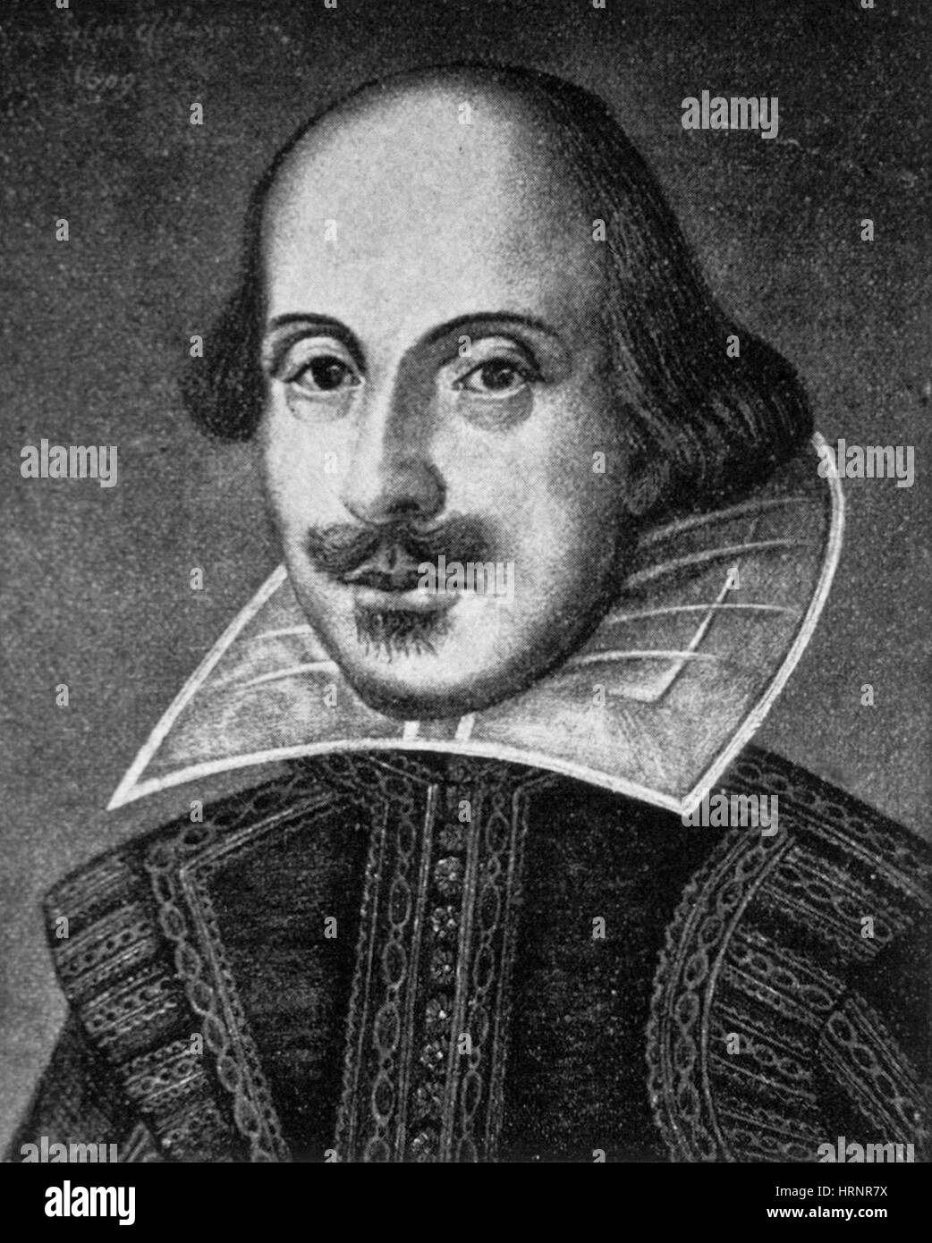William Shakespeare, English Poet and Playwright - Stock Image