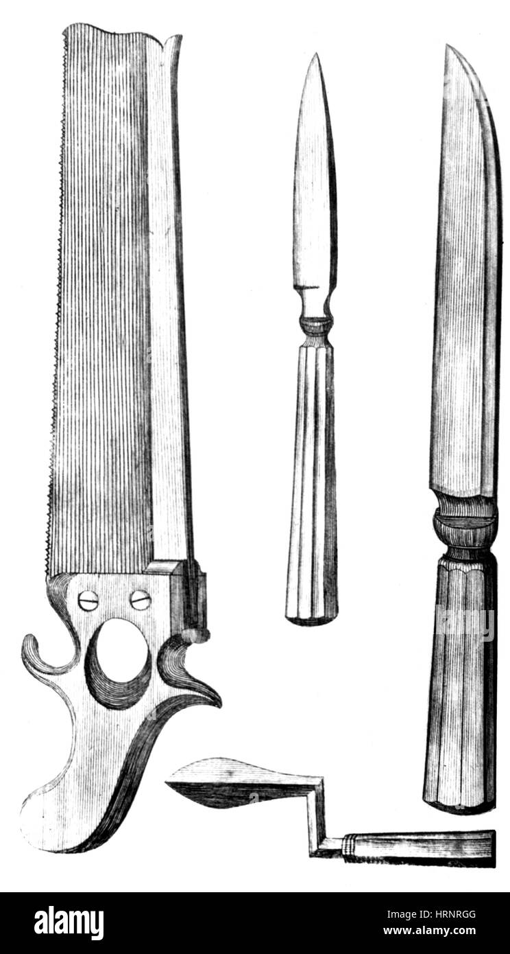 Surgical Instruments, 1791 - Stock Image