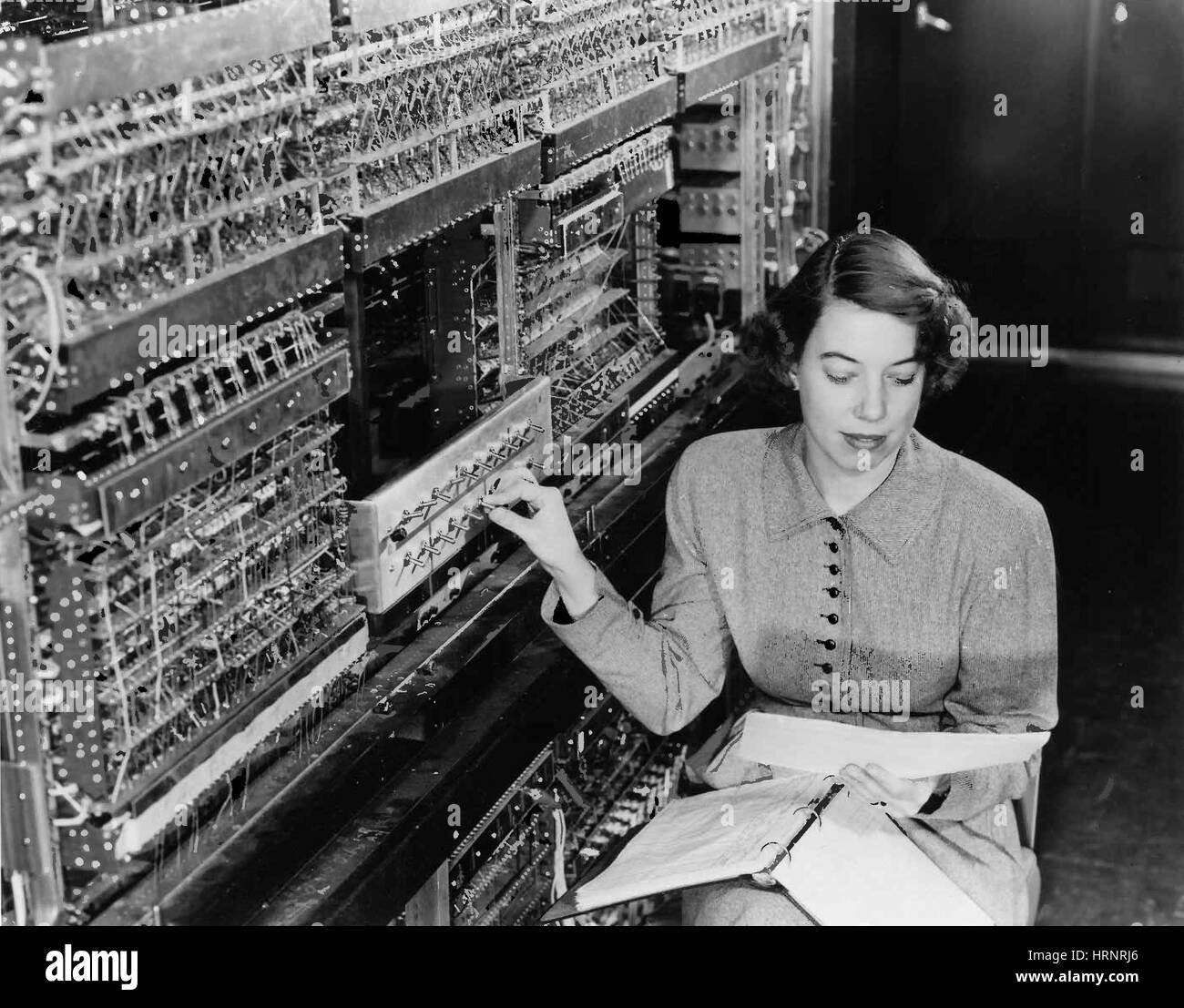 Jean F. Hall with AVIDAC, 1953 - Stock Image