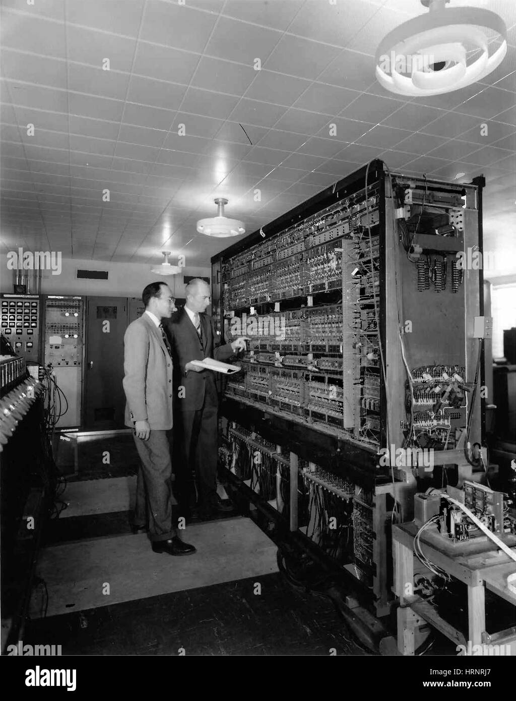 AVIDAC, Early Computer, 1953 - Stock Image