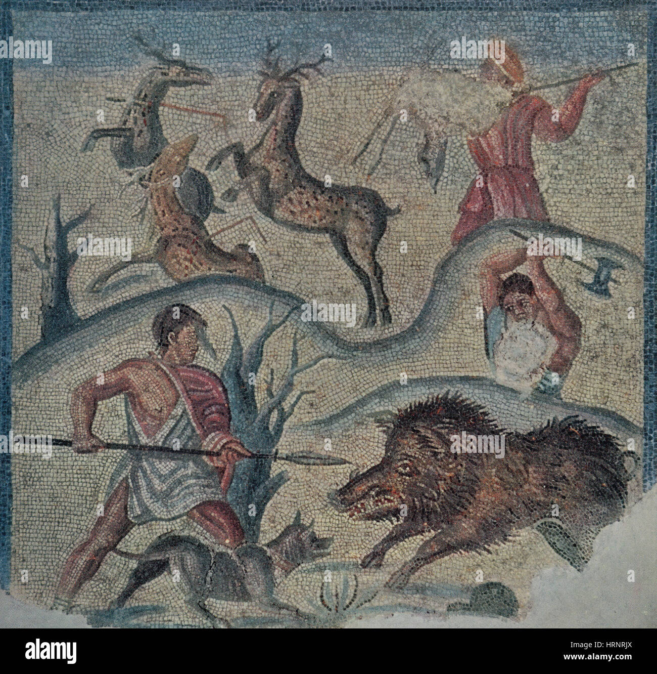 Roman Hunting Party, 2nd Century BC - Stock Image