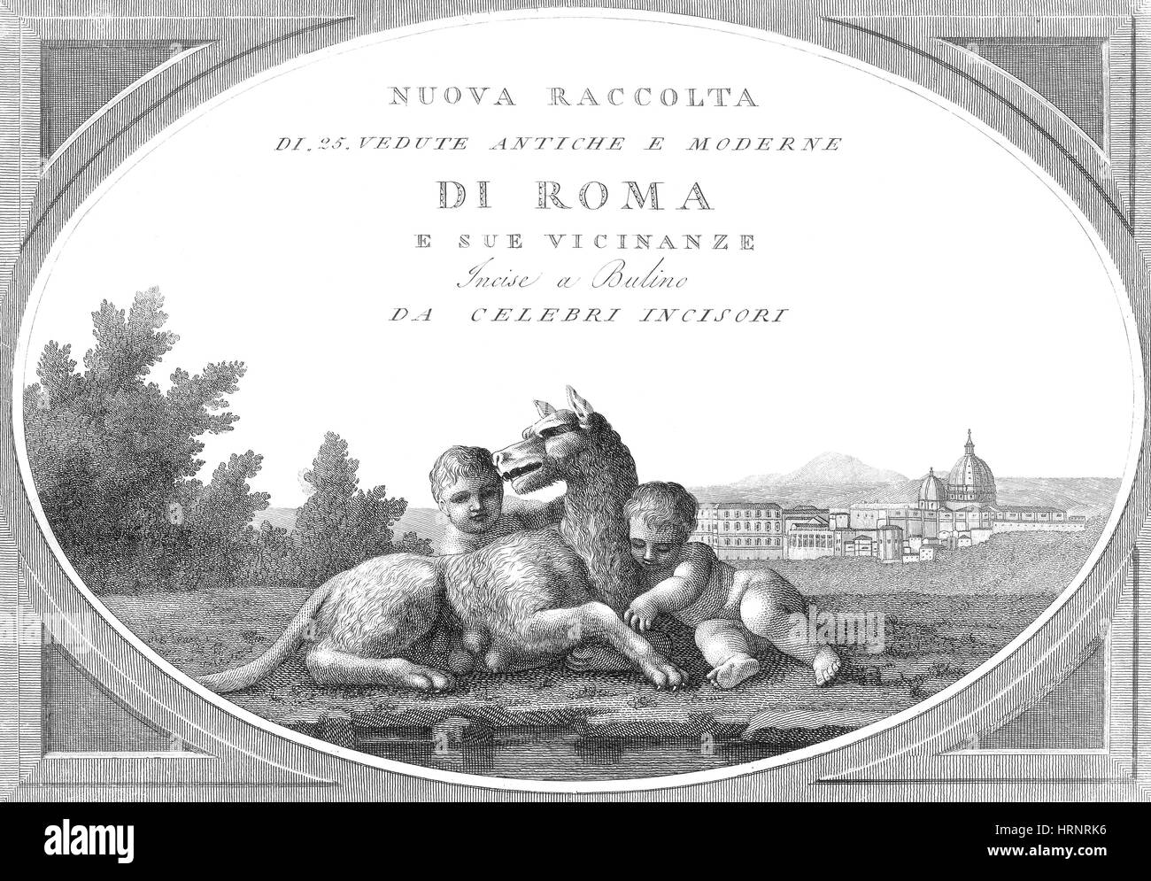 Romulus and Remus, Founders of Rome - Stock Image