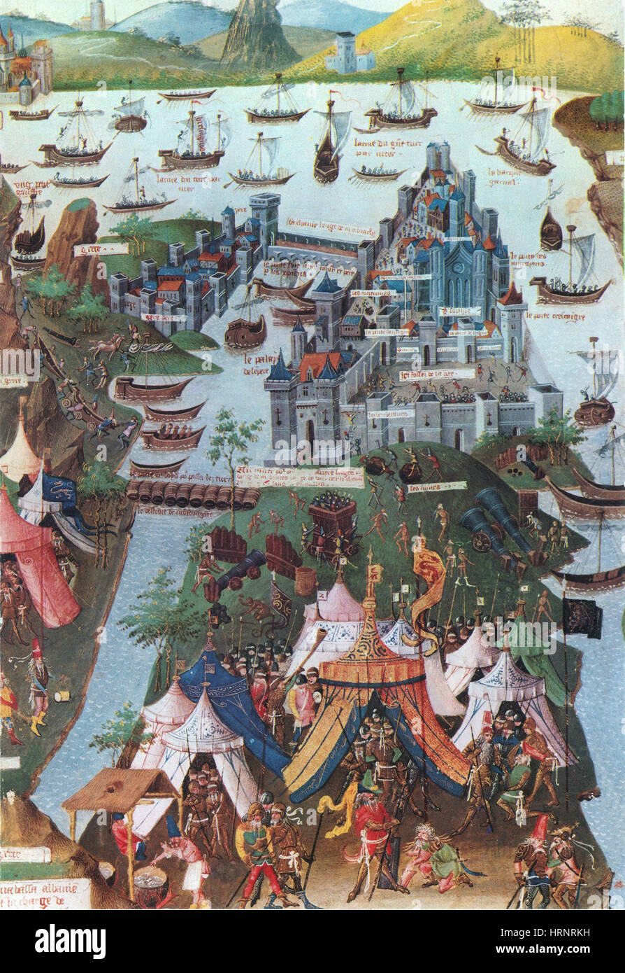 Siege of Constantinople, 1453 - Stock Image