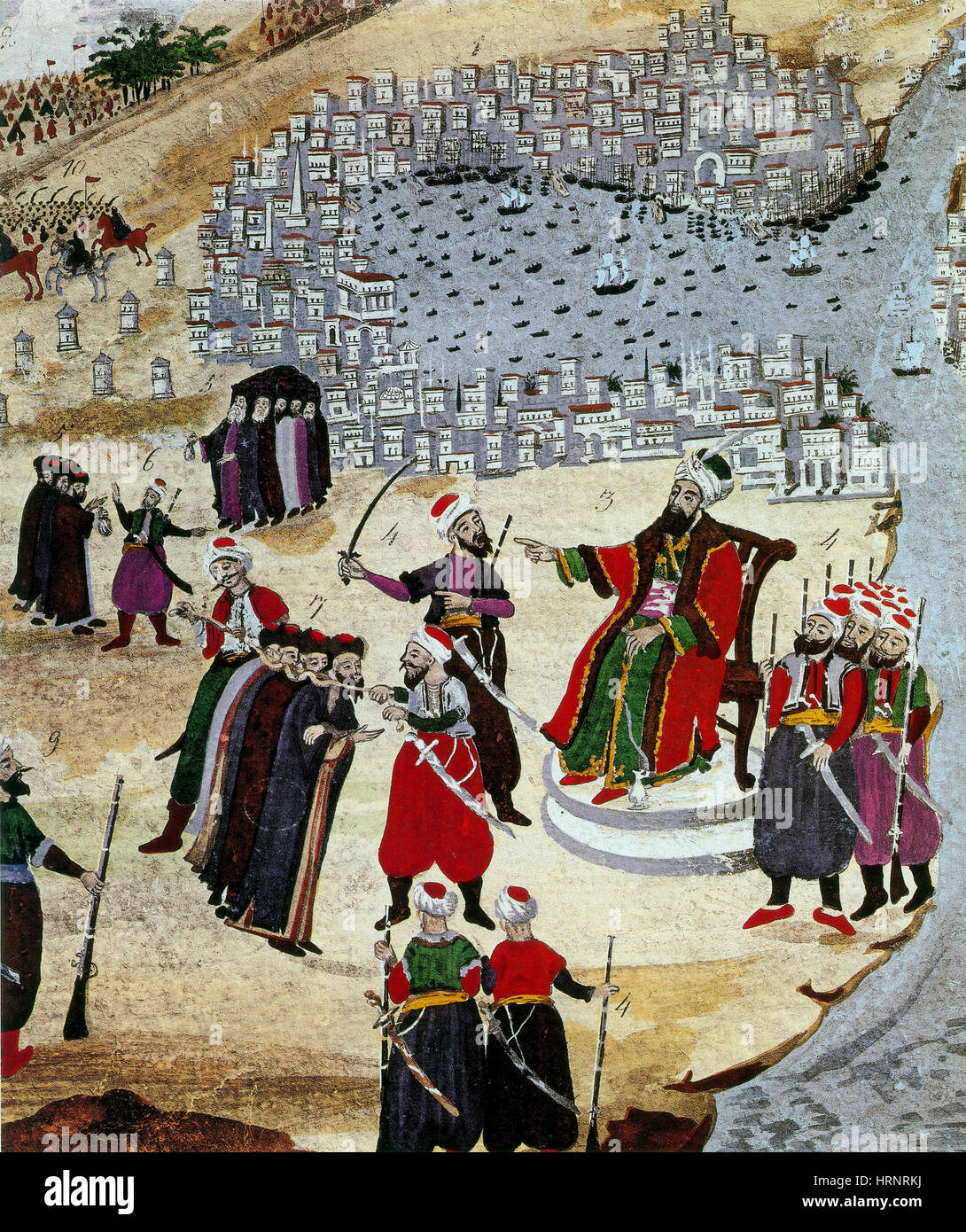 Fall of Constantinople, Ottoman Sultan Mehmed II, 1453 - Stock Image