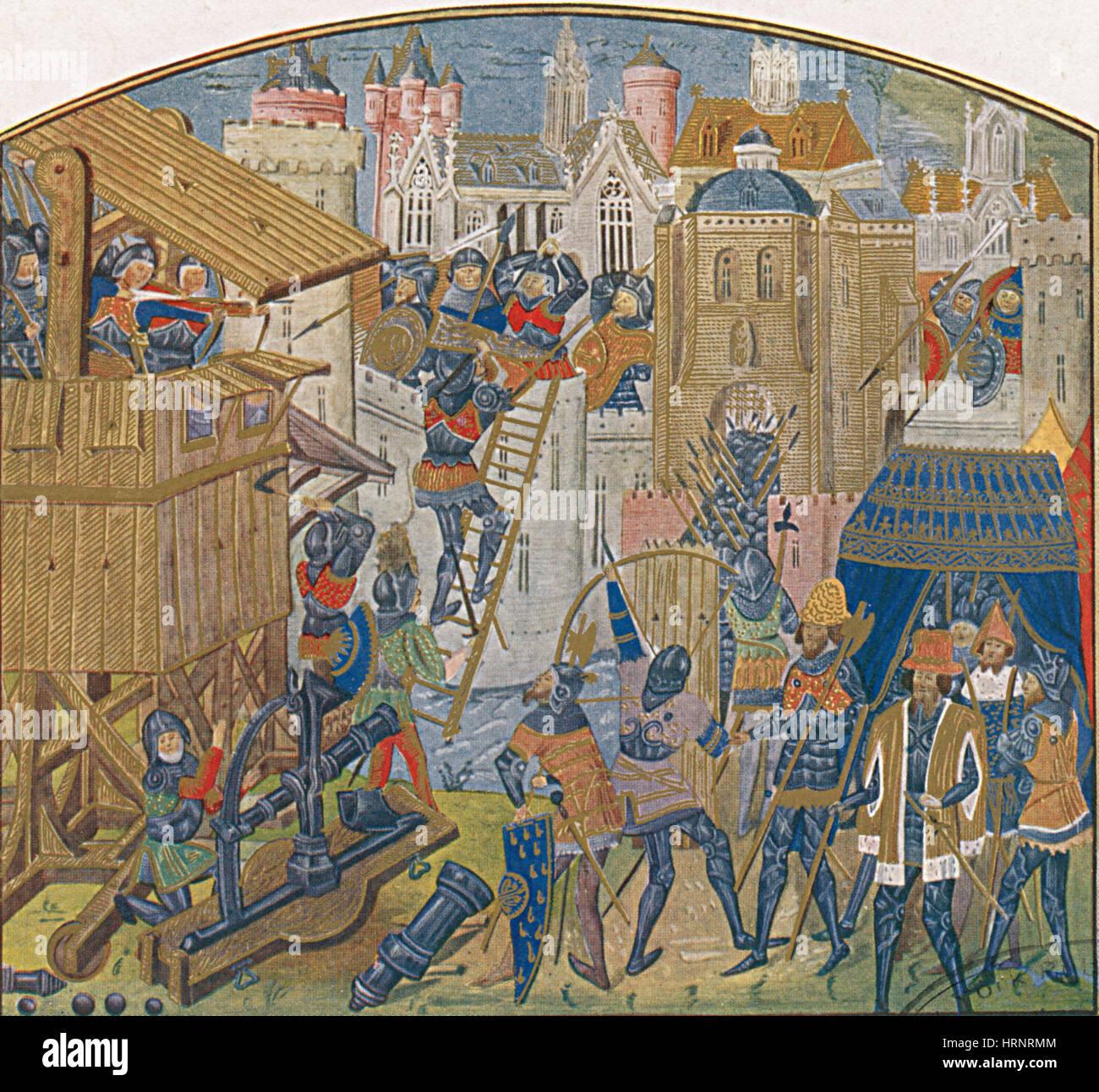 Siege Train, 15th Century - Stock Image
