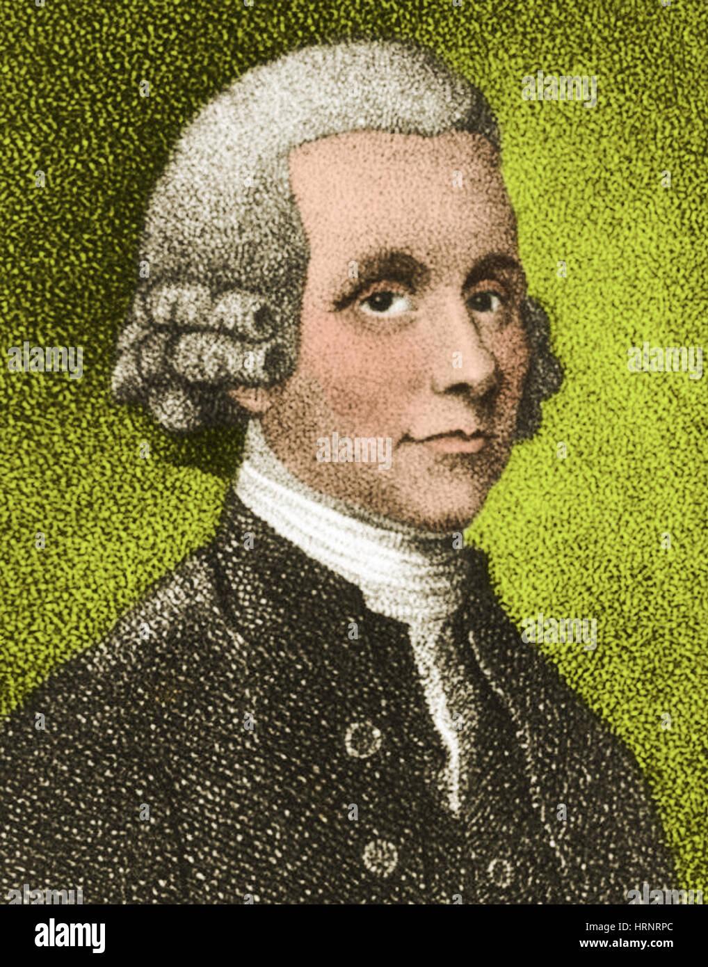 Joseph Priestley, English Chemist - Stock Image