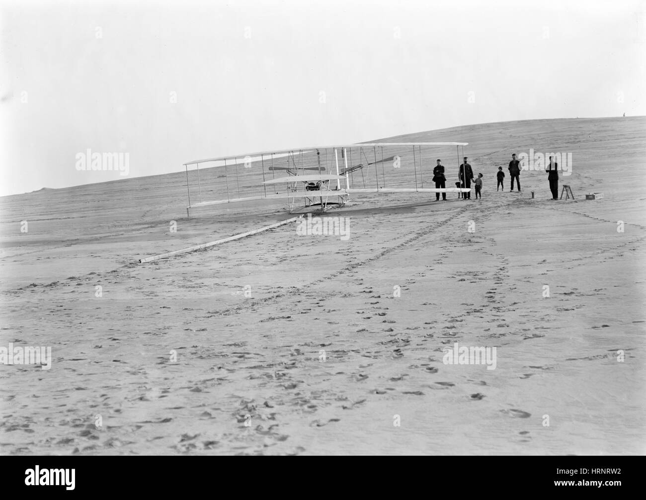 Wright Brothers Airplane, Big Kill Devil Hill, 1903 - Stock Image