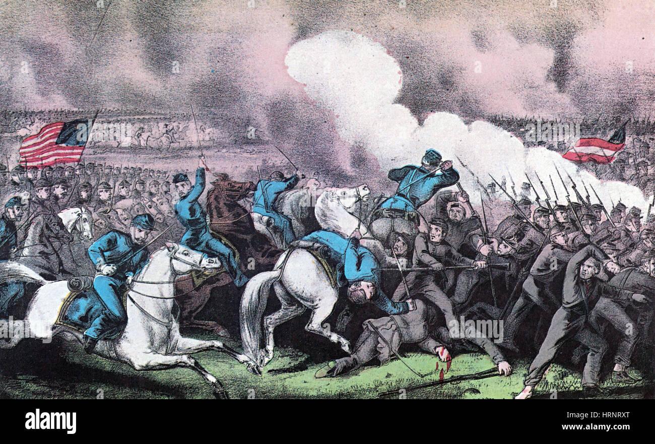 American Civil War, Battle of Antietam, 1862 - Stock Image