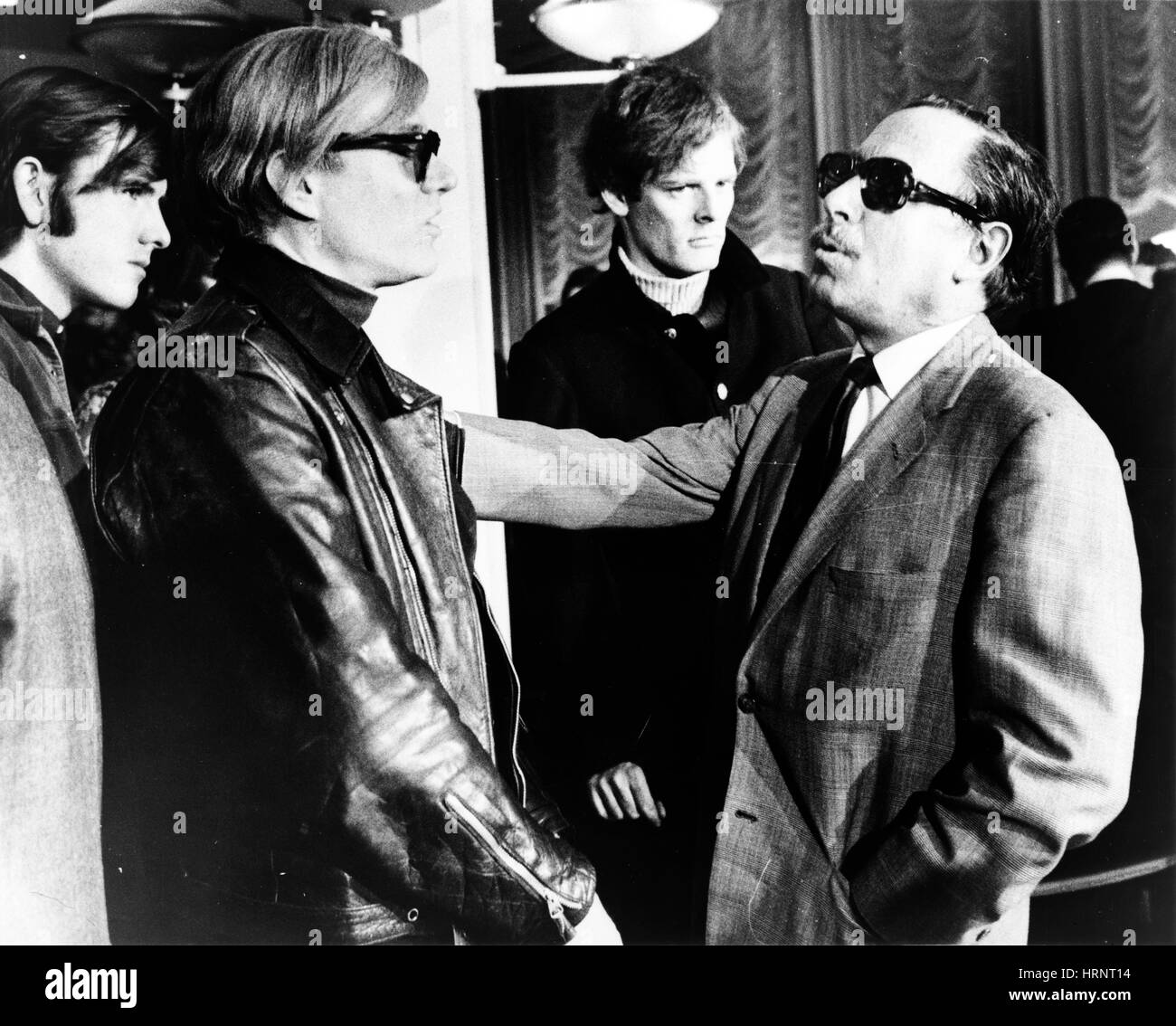 Andy Warhol and Tennessee Williams, S.S. France, 1967 - Stock Image
