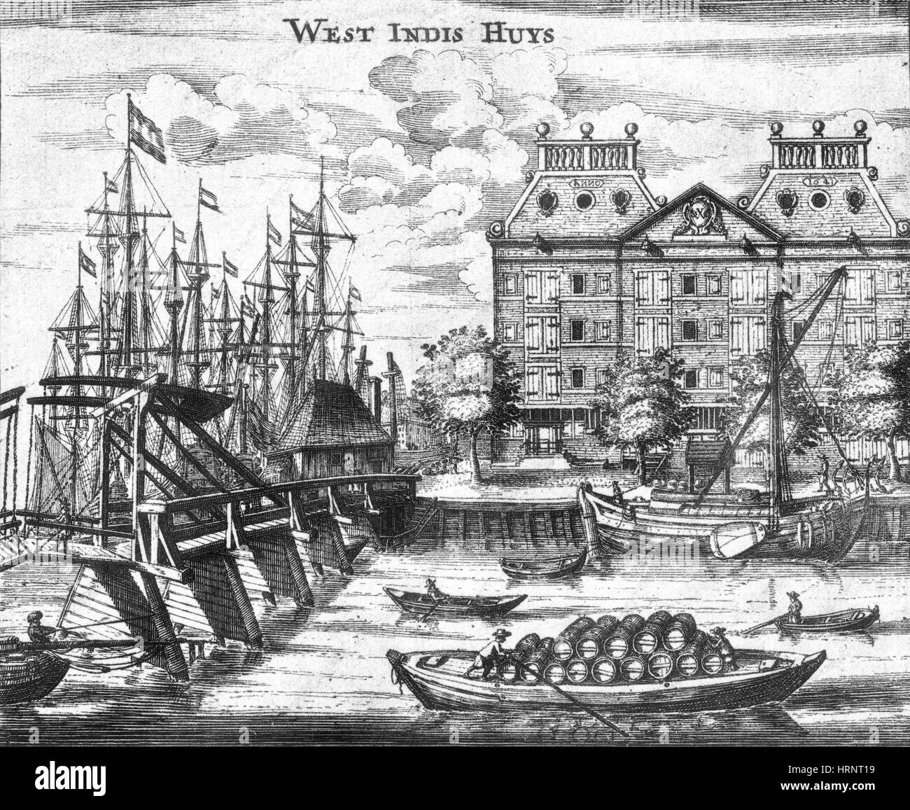 Dutch West India Company Warehouse, 17th Century - Stock Image