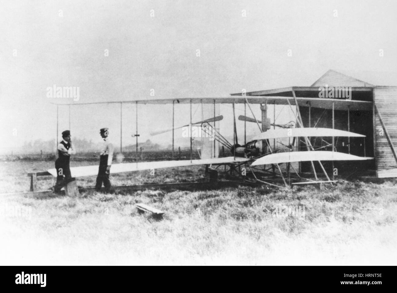 Wright Brothers with Flyer II - Stock Image