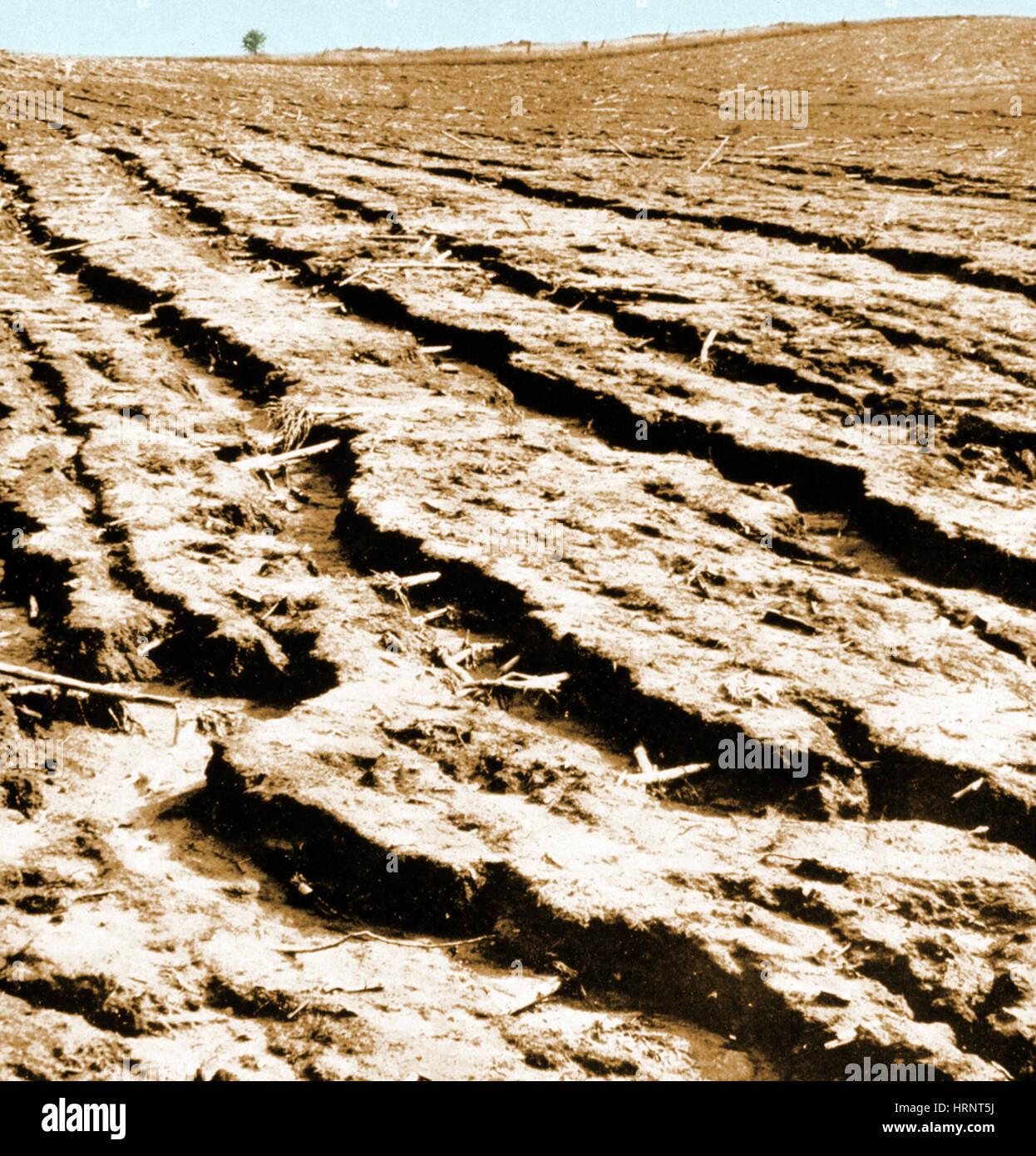 Dust Bowl Erosion - Stock Image