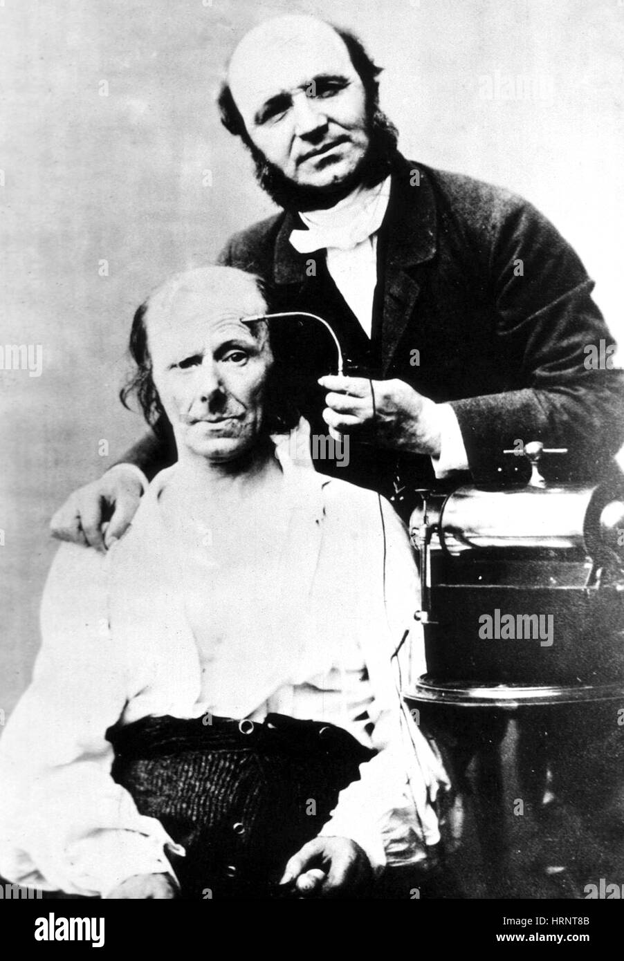 G.B.A. Duchenne Performs Electrotherapy, 1861 - Stock Image