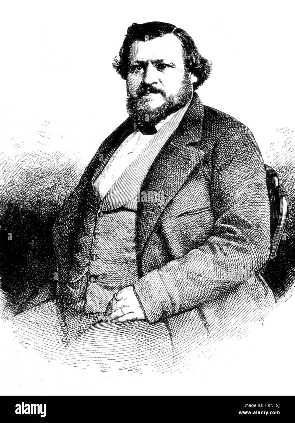 Karl Vogt, German Natural Scientist - Stock Image