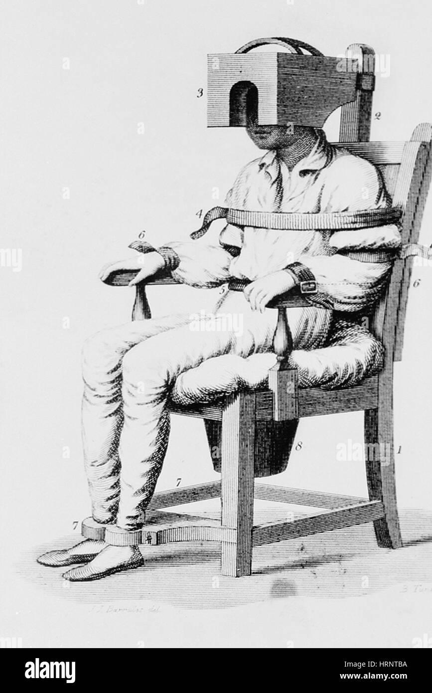 Restraining Chair, 1811 - Stock Image