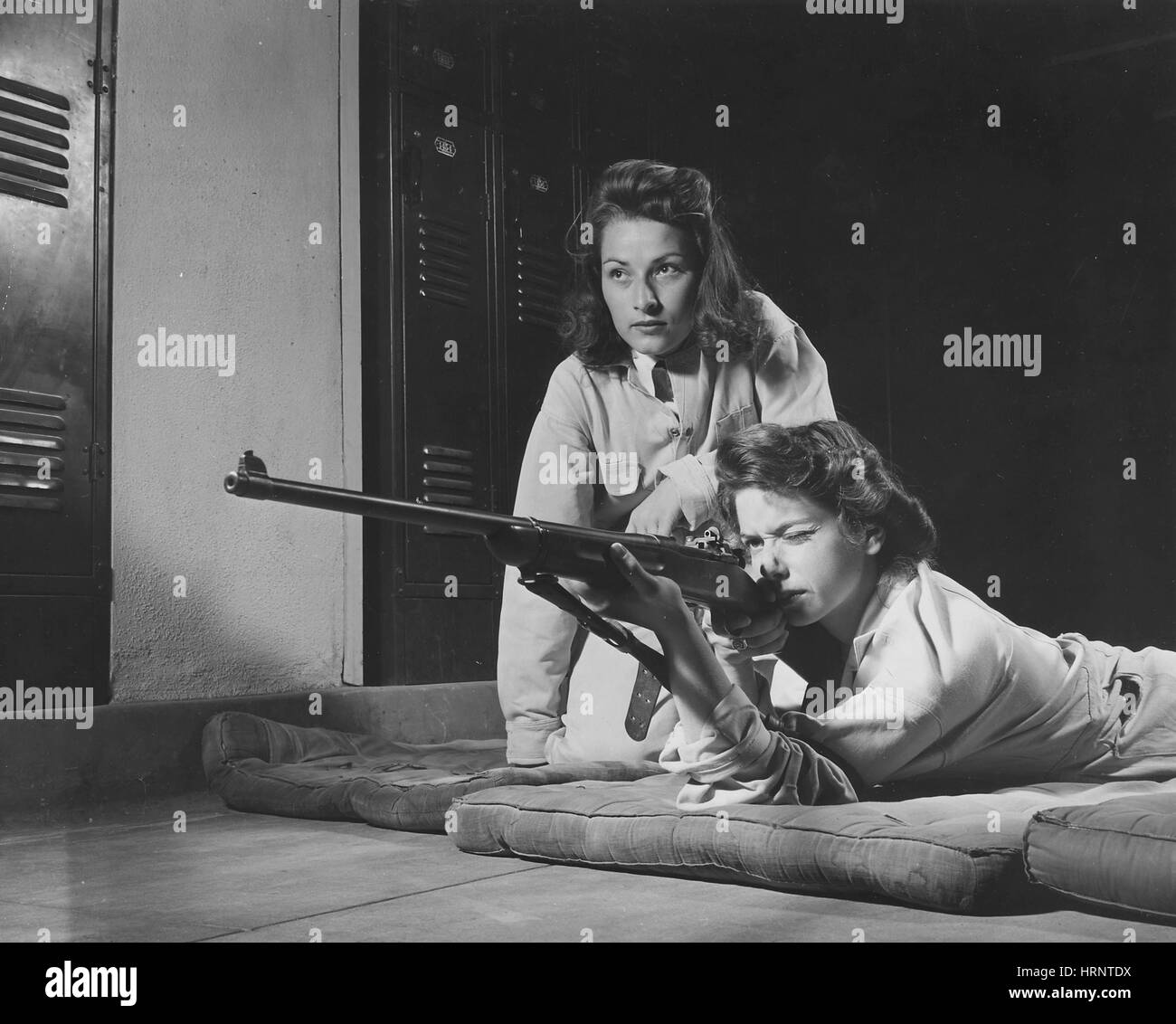 WWII, Victory Corps Marksmanship Class - Stock Image