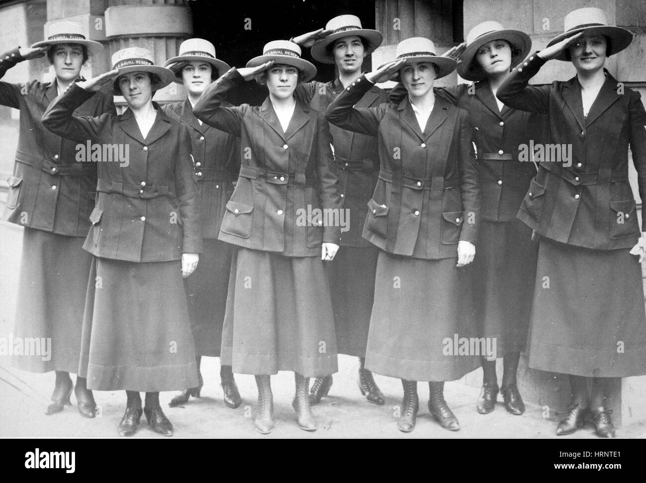 Yeomen Attached to the Naval Reserve, 1918 - Stock Image