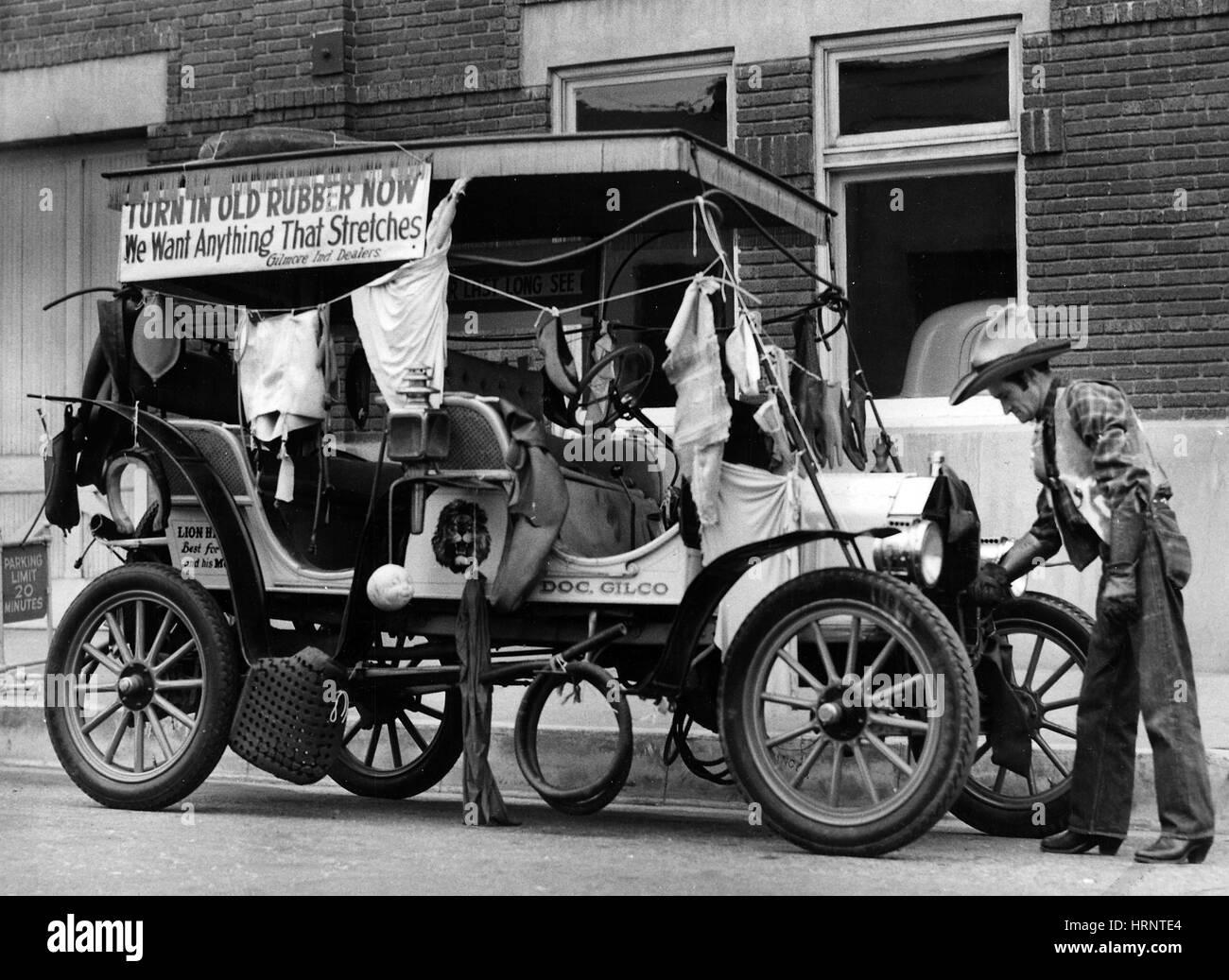 Scrap Rubber Drive, 1942 Stock Photo
