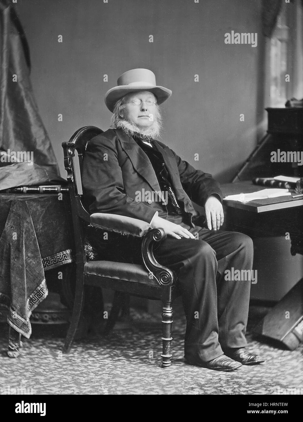 Horace Greeley, American Newspaper Editor - Stock Image