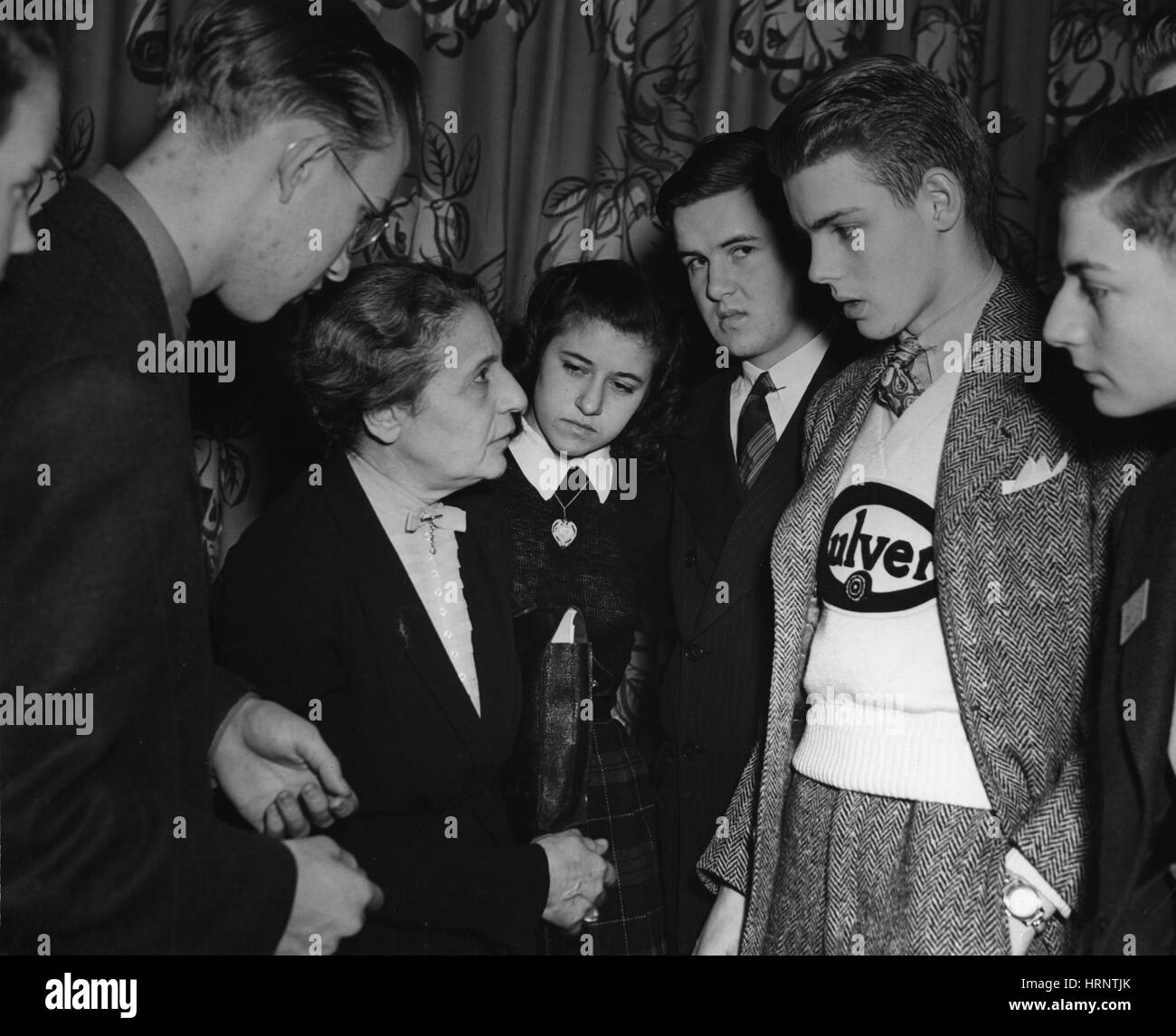 Lise Meitner and Competition Finalists, 1946 - Stock Image