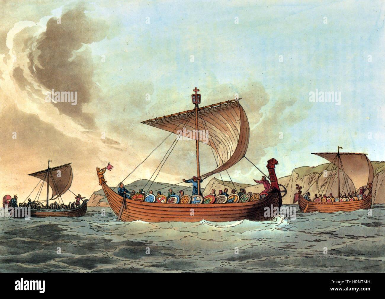 Ships of William the Conqueror - Stock Image