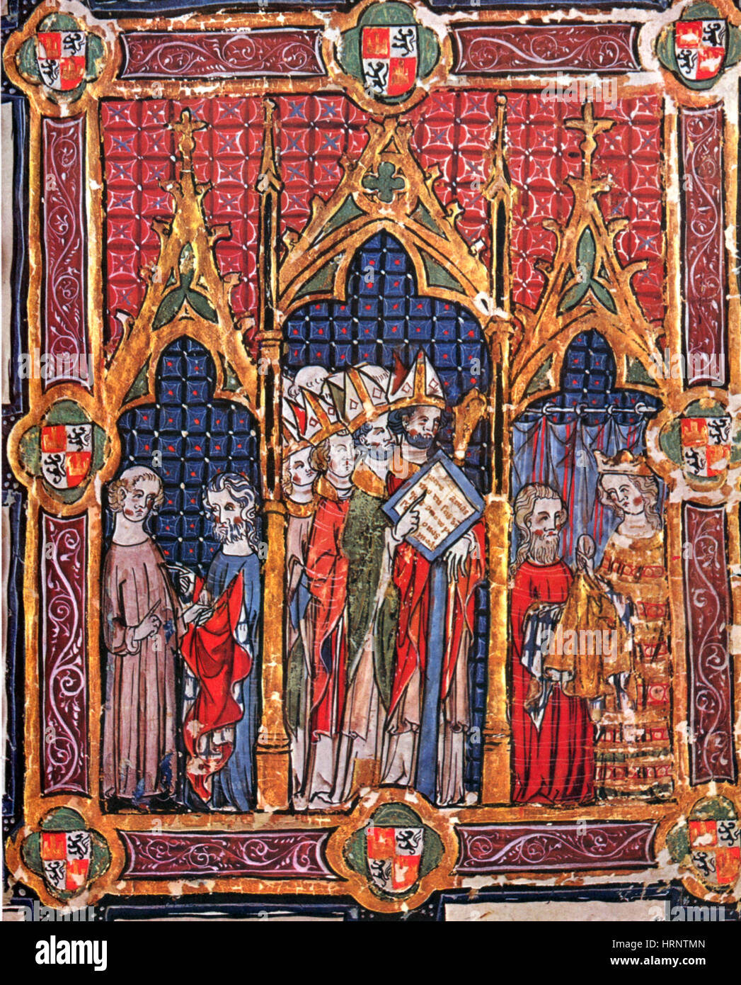 Coronation of the Kings, 14th Century - Stock Image