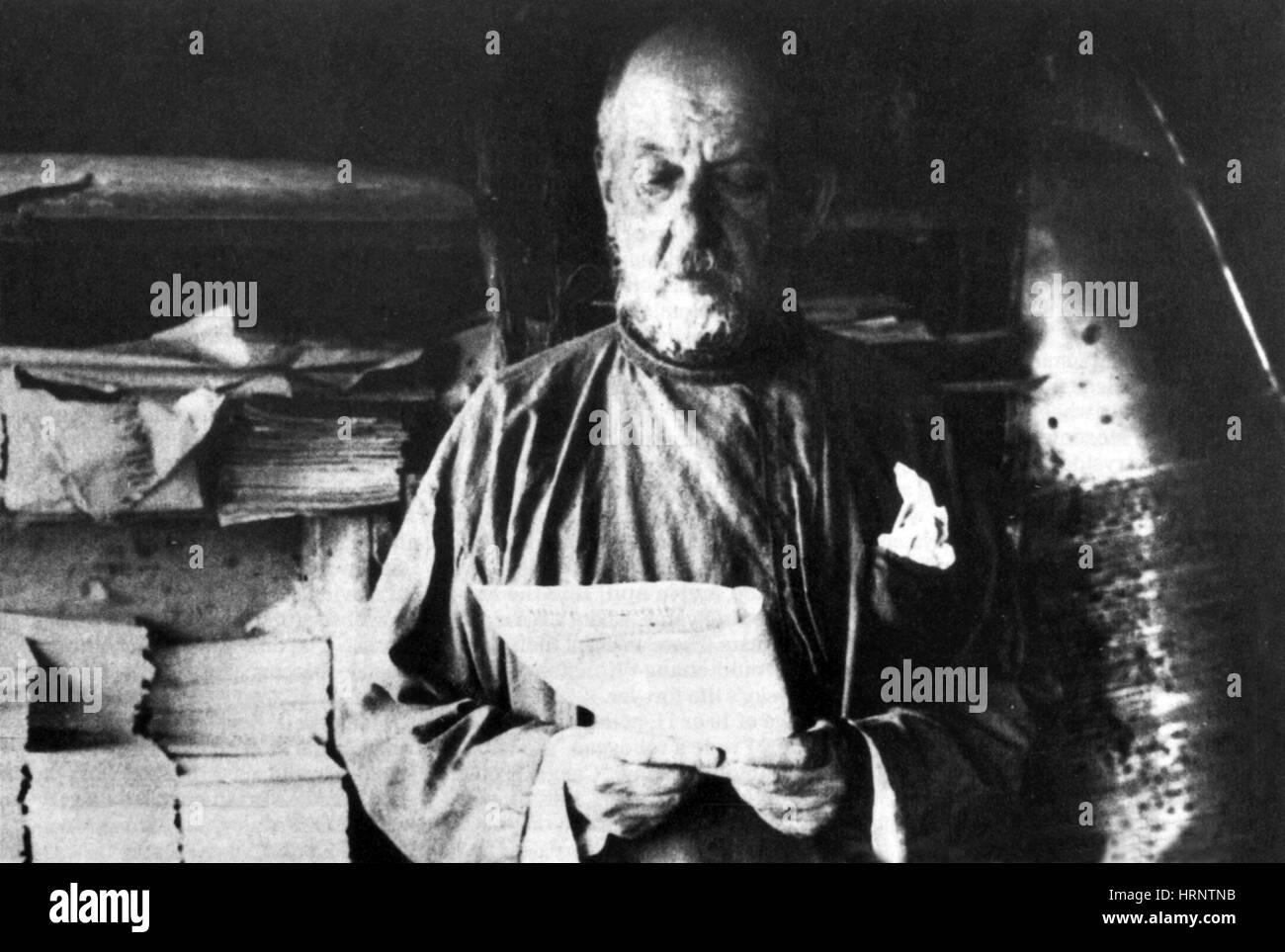 Konstantin Tsiolkovsky, Rocket Scientist - Stock Image