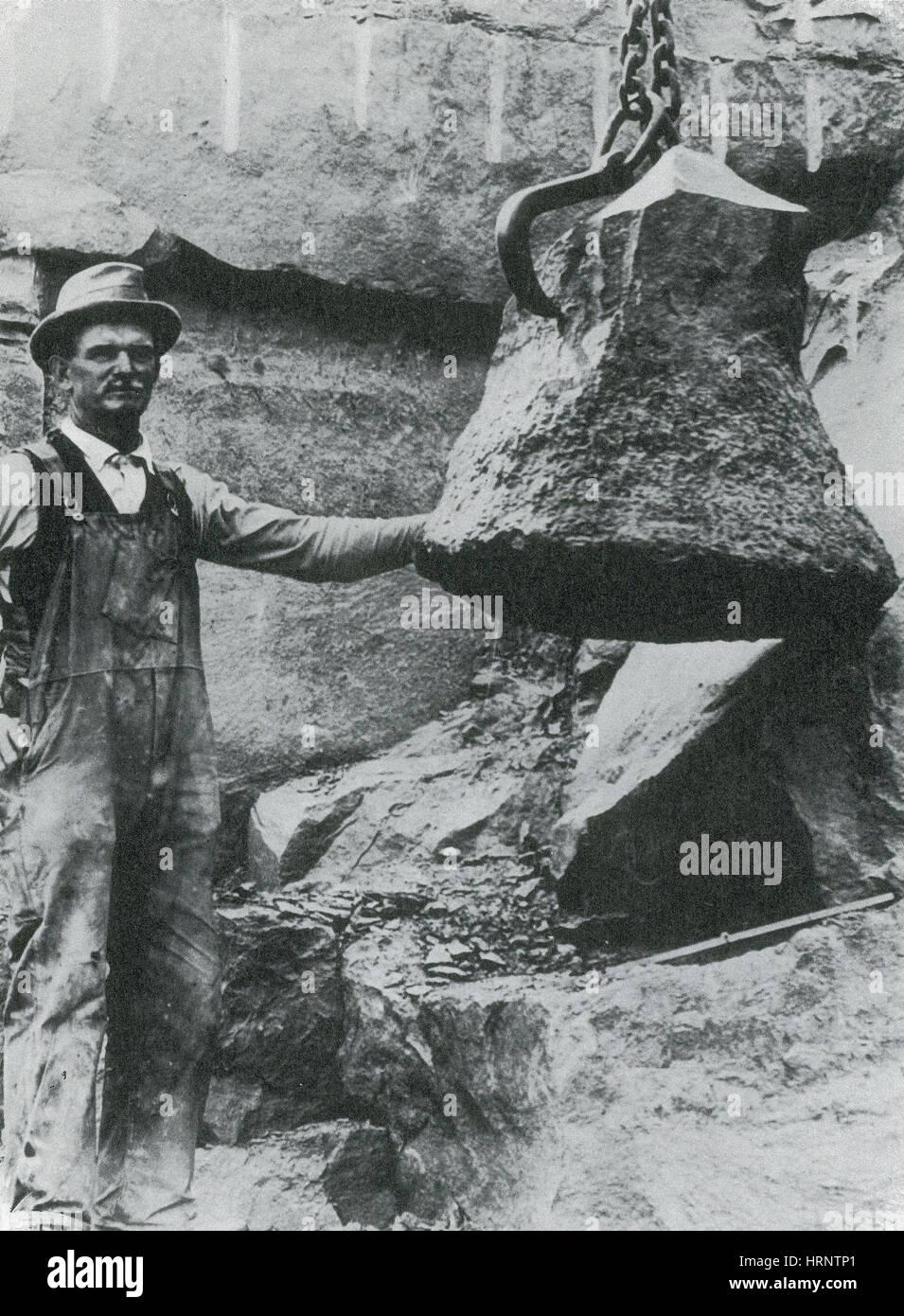 Wattieza Petrified Tree Stump, 1921 - Stock Image