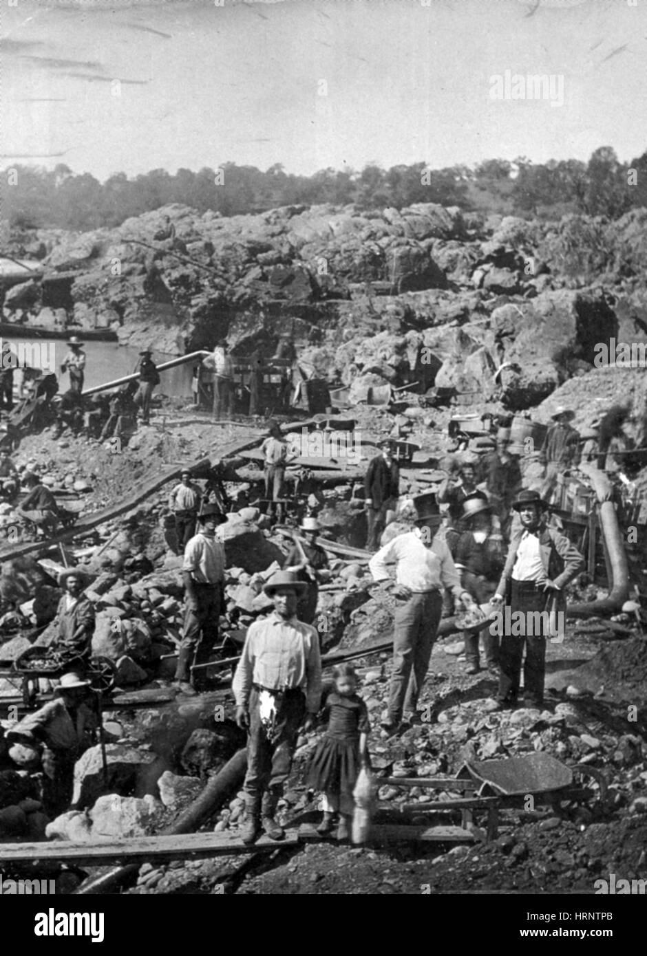 California Gold Rush, 1852 - Stock Image