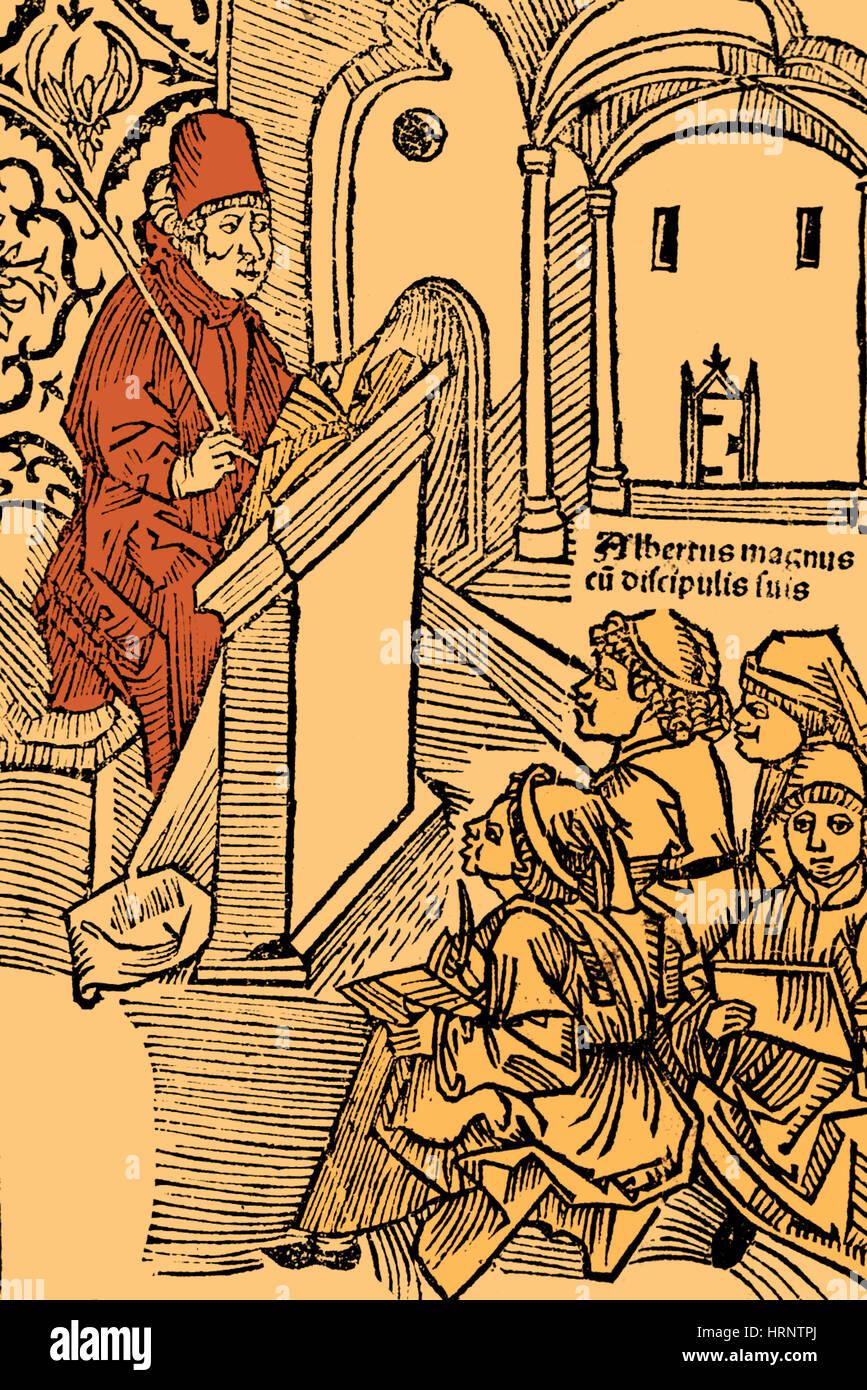 Albertus Magnus, Medieval Philosopher - Stock Image