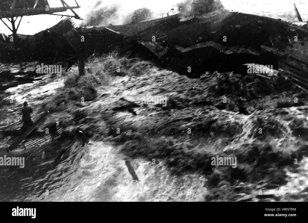 Tsunami, Hawaii, 1946 - Stock Image