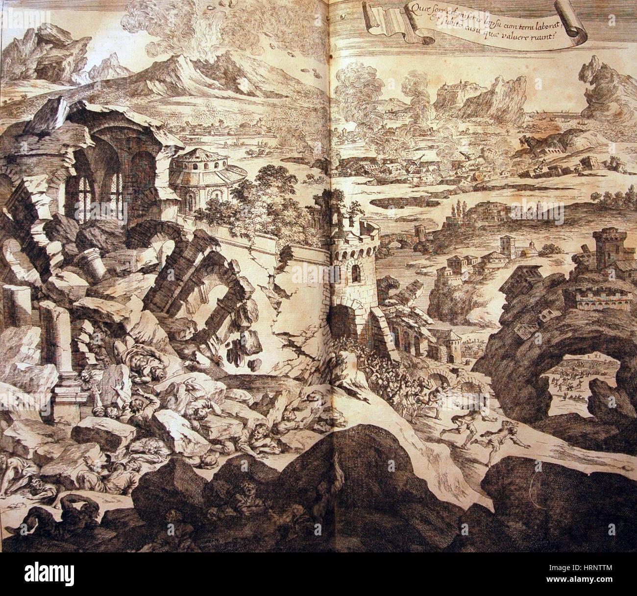 Sicily Earthquake, 1693 - Stock Image