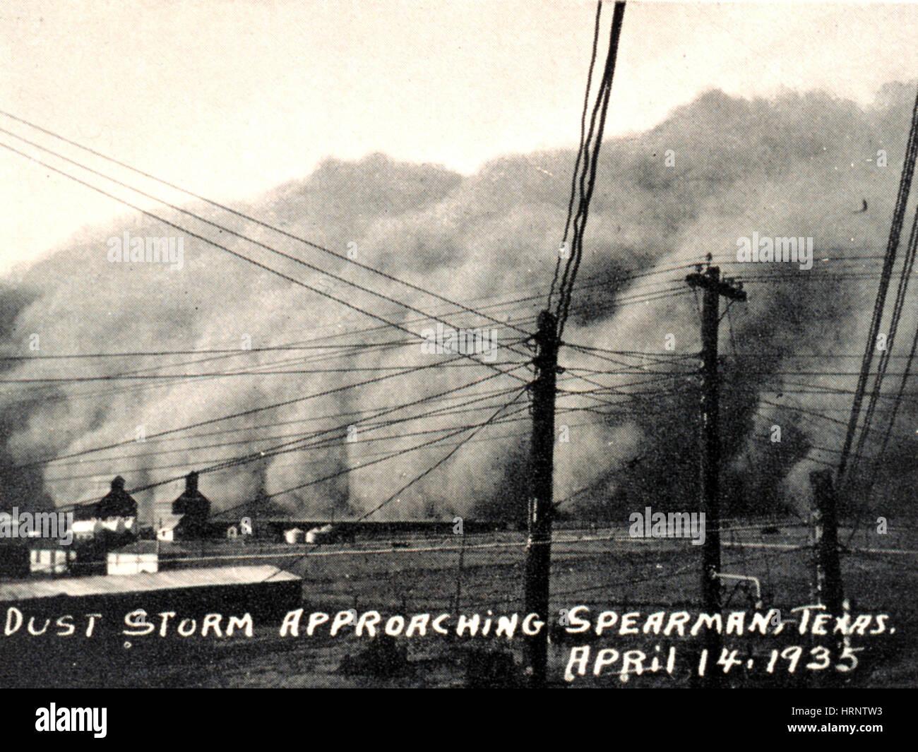 Texas Dust Storm, 1935 - Stock Image