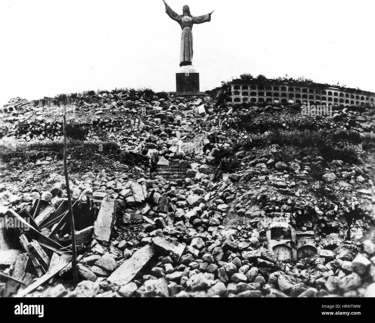 Ancash Earthquake, Peru, 1970 - Stock Image