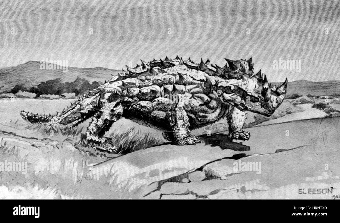 Stygimoloch, Cretaceous Dinosaur - Stock Image