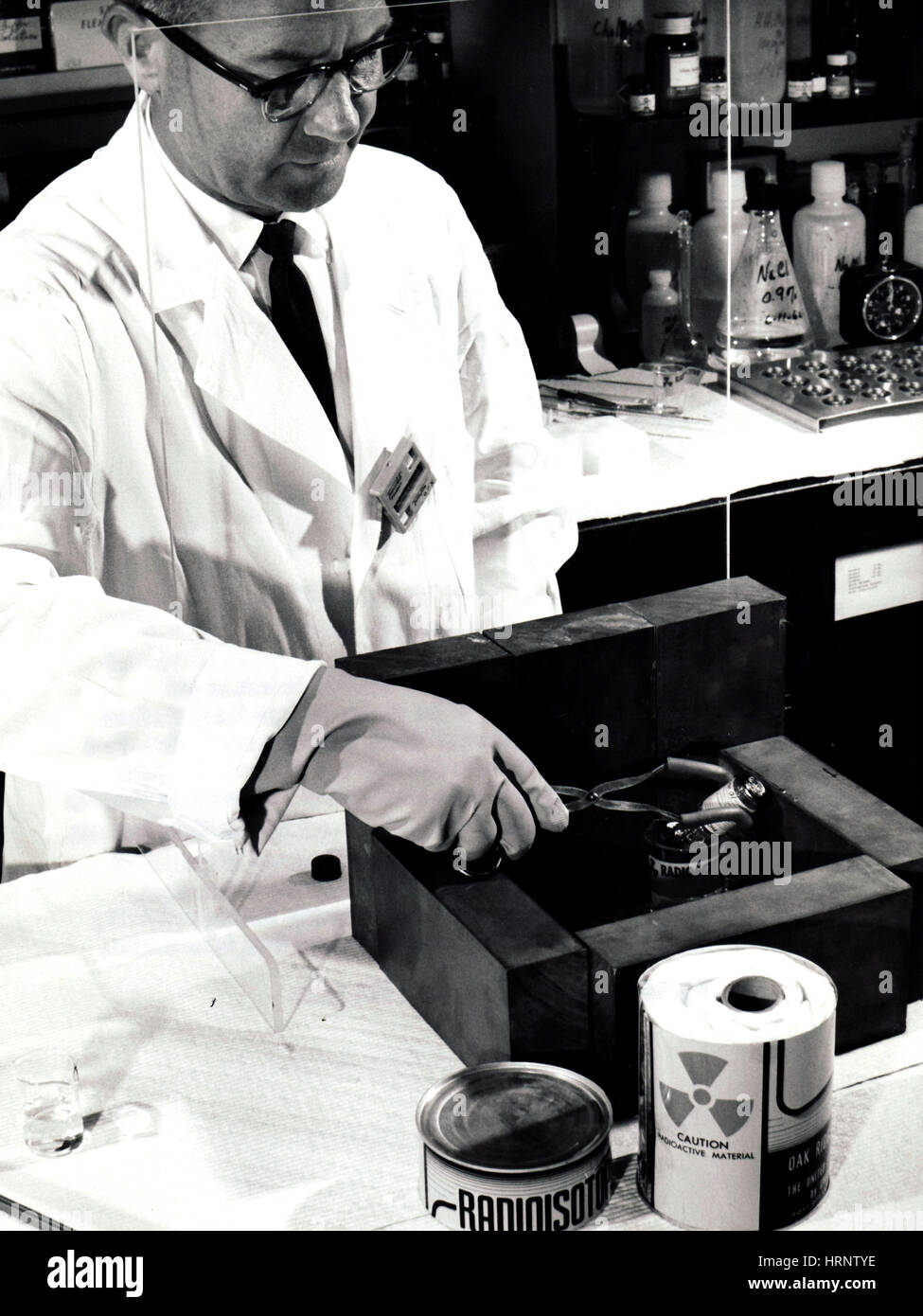 FDA Dosimeter checks Radiation Exposure - Stock Image