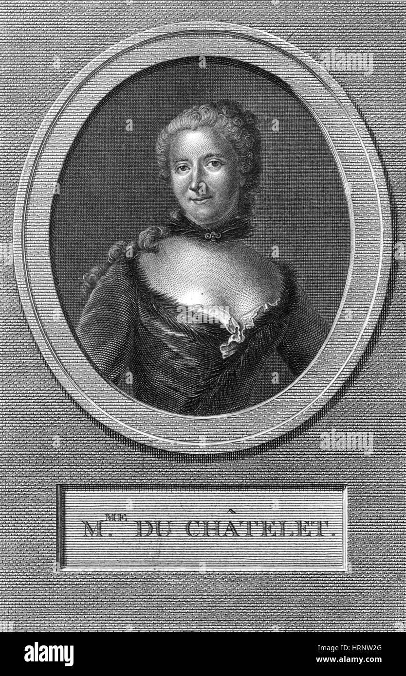 Ìämilie du ChÌ¢telet, French Mathematician - Stock Image