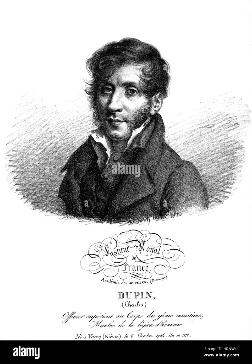 Pierre Dupin, French Mathematician - Stock Image