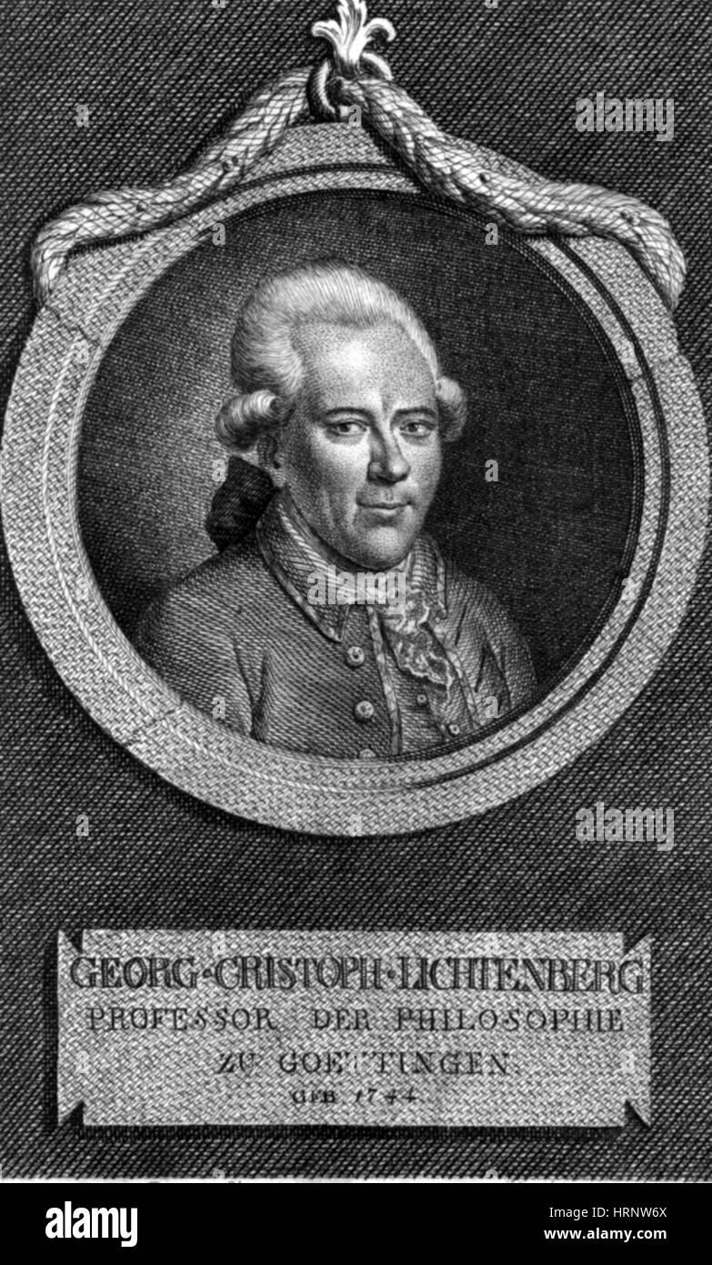 Georg Christoph Lichtenberg, German Scientist - Stock Image