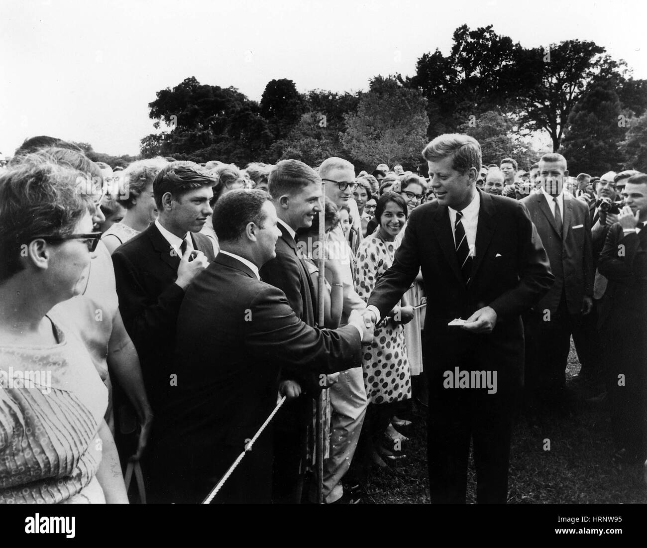 JFK Greets Peace Corps Volunteers, 1962 - Stock Image